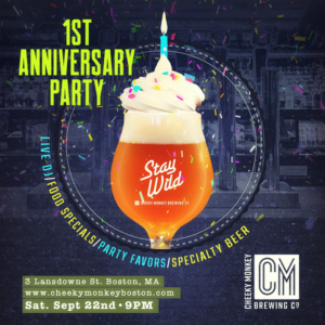 graphic promoting CM first anniversary party